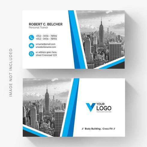 Blauwe foto vorm bedrijfskaart
