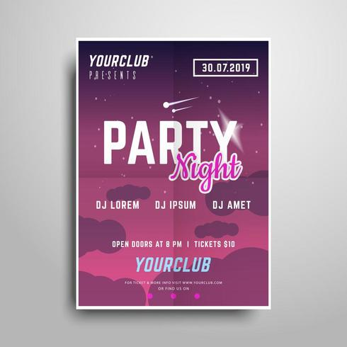 Red Party poster template