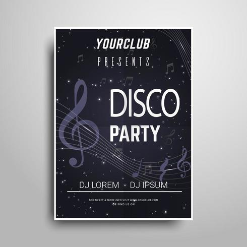 B&W Party poster template