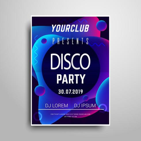 Abstract Party poster template vector