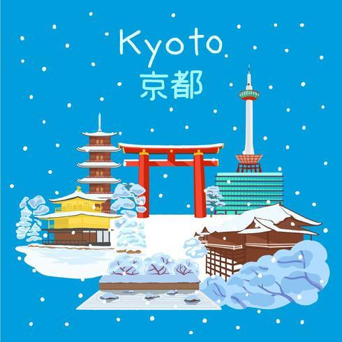 Kyoto Japan winter season