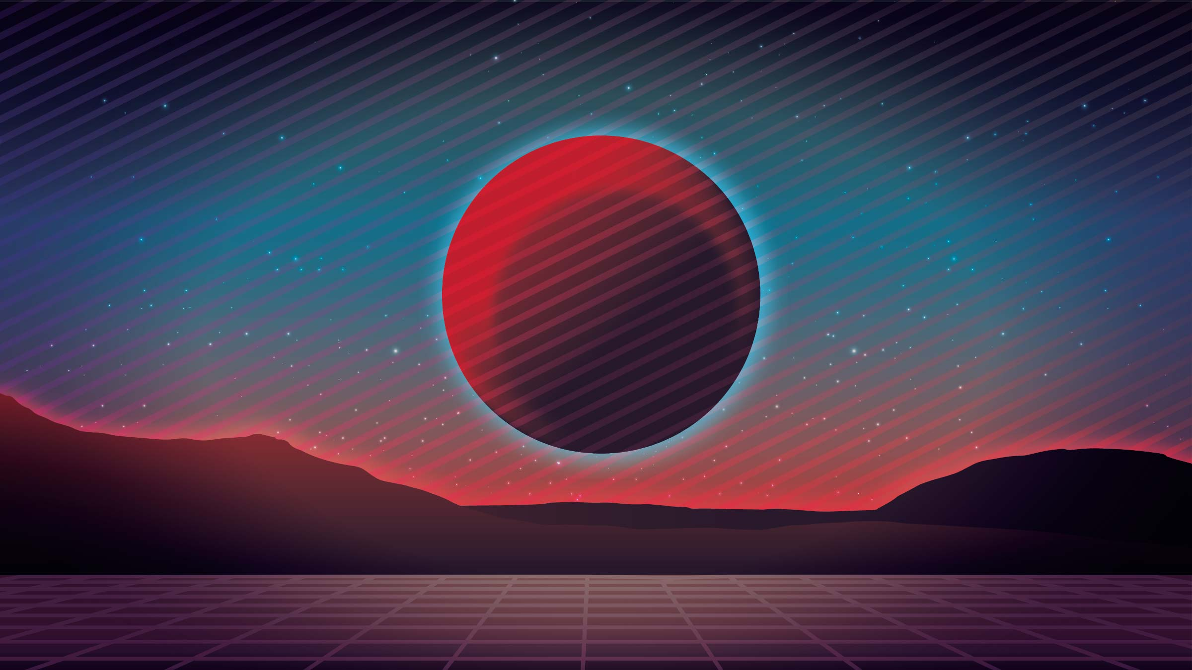 retro game background