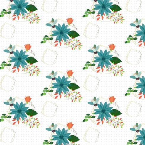 Geometric Floral background design vector