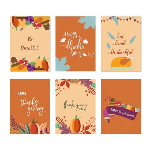 Set van Thanksgiving-kaarten