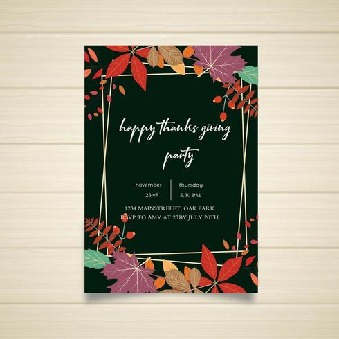 Happy Thanksgiving Party posterontwerp