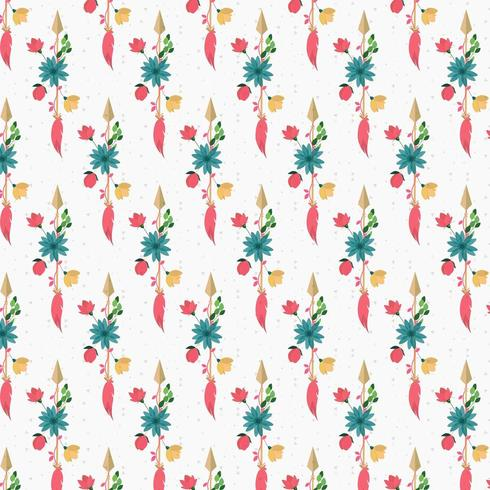 Vintage abstract floral achtergrondontwerp