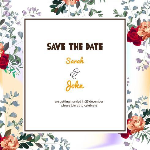 Elegant Floral Save the Date Card
