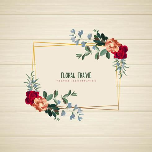 Geometrisch bloemenkader Horizontaal