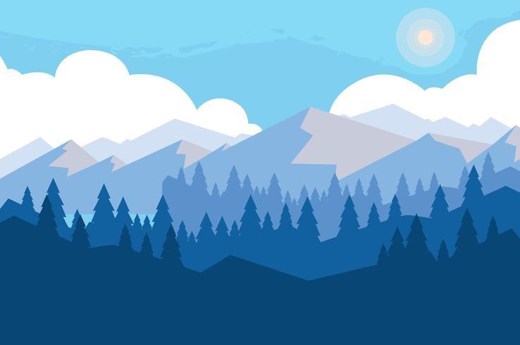 landscape mountainous scene