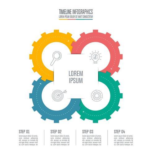 infographic ontwerp bedrijfsconcept met 4 opties.