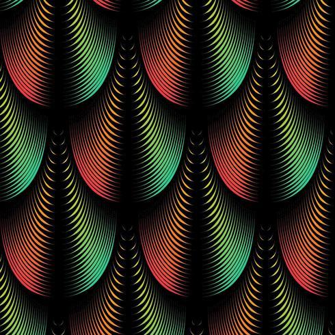 Abstrait avec des lignes de plumes mélangées
