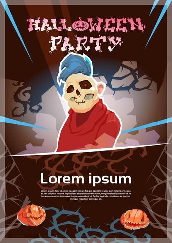 Glückliches Halloween-Party-Monster-Nachtplakat