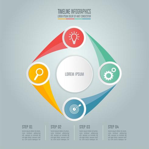 Business concept with 4 options, steps or processes. vector