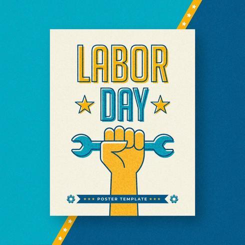 Dag van de Arbeid Offset Poster sjabloon