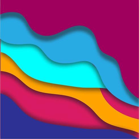 Colorful 3D Papercut Background vector