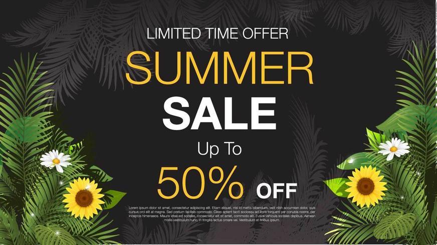 Blommig affisch för sommarförsäljning