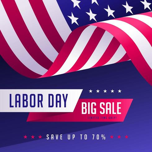 Labor Day Sales Promotion Social Media Post Template vector
