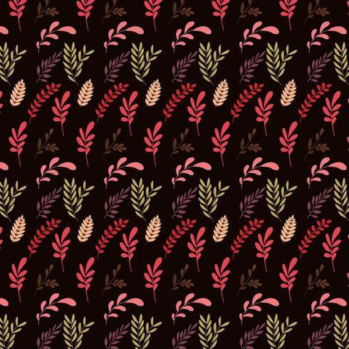 autumn foliage pattern vector