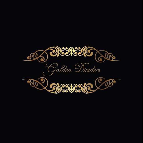 Golden Ornamental dividers