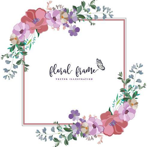 elegant vierkant bloemenframe