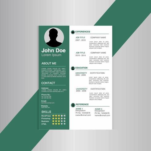 Imprimir diseño de plantilla de currículum creativo