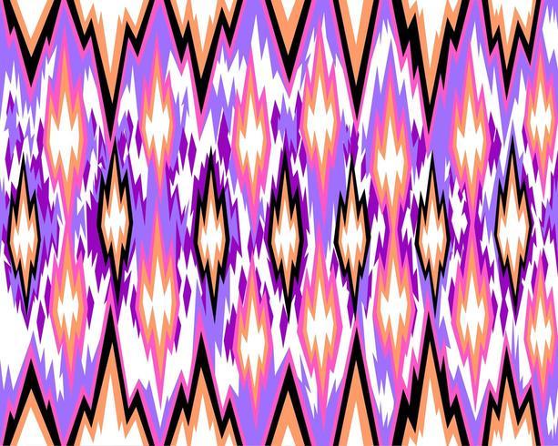 Naadloos geometrisch patroon, gebaseerd op ikat-stofstijl. Vector illustratie