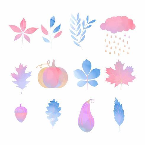 aquarel herfst elementen