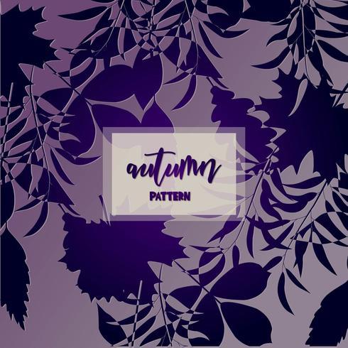 Purple gradient autumn design vector