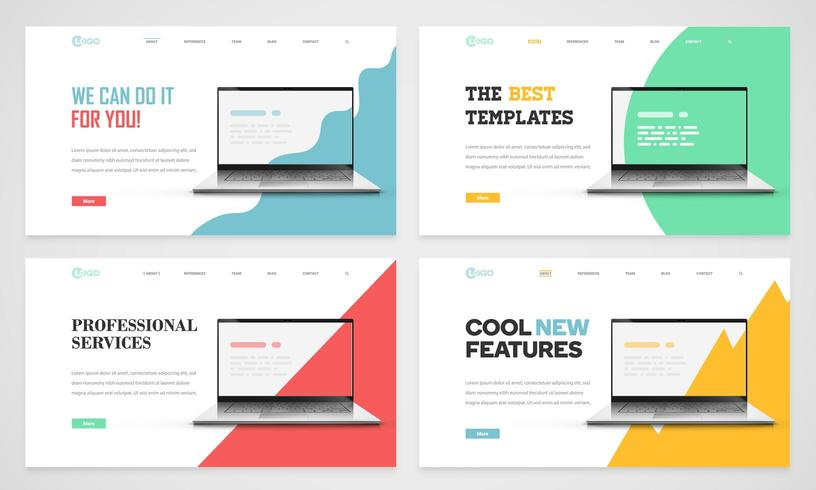 Website templates Set vector