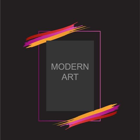 Ontwerp met moderne kunstlijst
