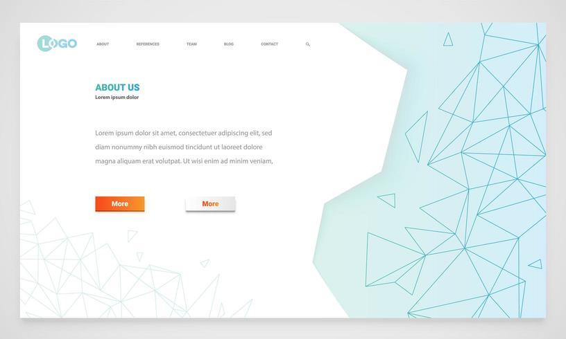 Plantilla de sitio web moderno vector