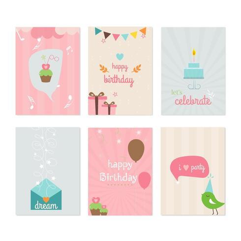 set verjaardagskaart ontwerpen