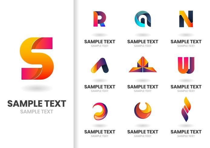 Lettres et formes vectorielles modernes