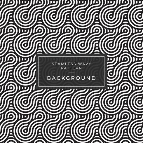 Geometrisches nahtloses einfarbiges wiederholendes Muster mit gewellten Linien