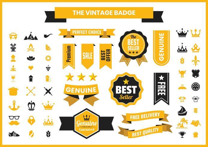 Golden Vintage Retro Badge