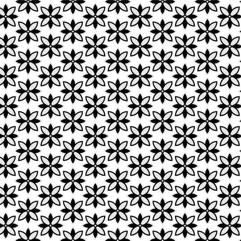 Modern Geometric Seamless Pattern with floral shapes