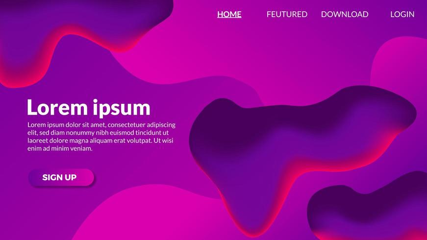Abstract gradient fluid purple modern background