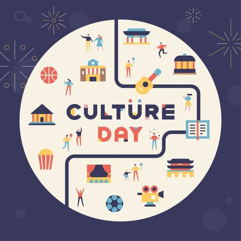 Culture day building and culture icons