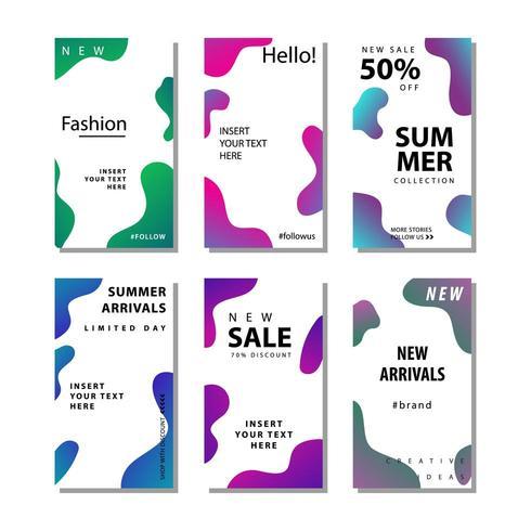 Set of social media sale flyer