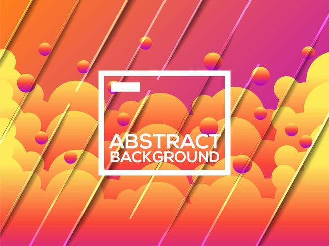 Plantilla de fondo naranja moderno degradado abstracto vector
