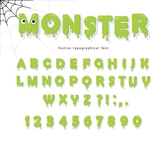 Fuente halloween cute monster para niños