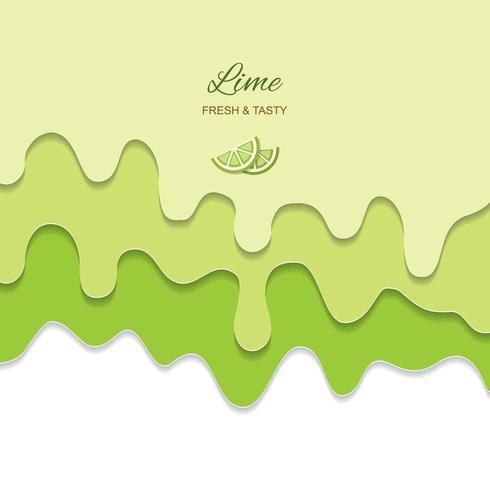 Fondo verde lime scorrente fuso
