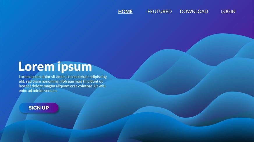 abstract vibrant gradient blue modern wave background. vector