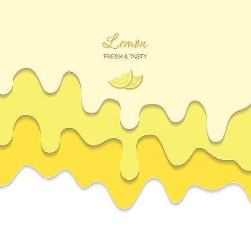 Crema giallo limone che scorre fusa