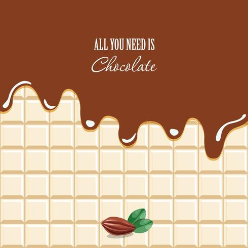 Fondo de chocolate derretido vector