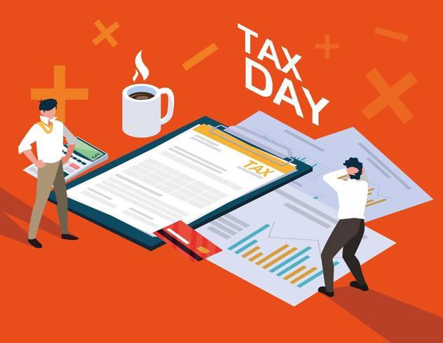businessmen filing taxes