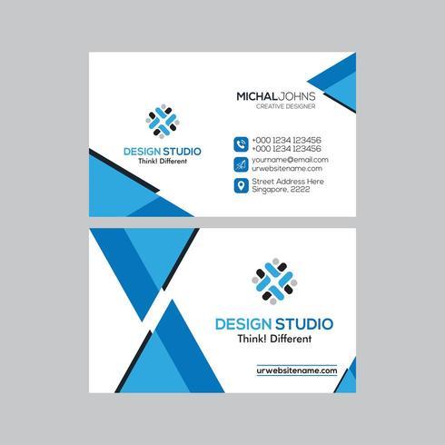 Design de carte de visite moderne Triangle minimaliste