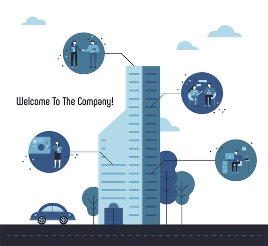 Välkommen till företagets skyskrapa presentation mall