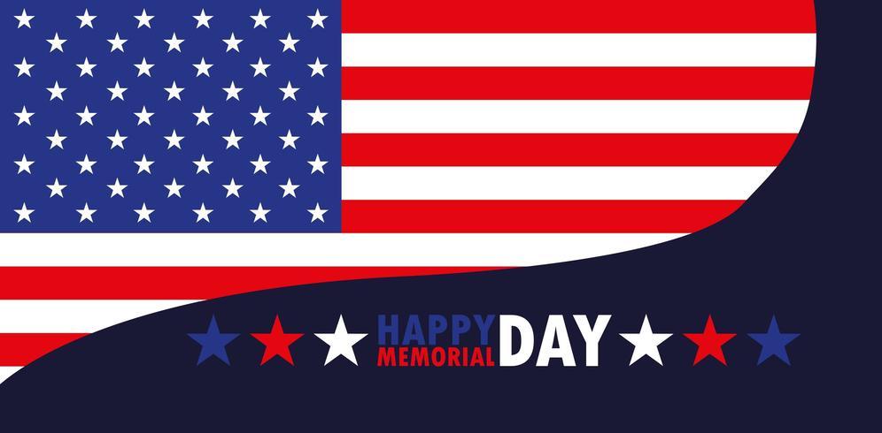 happy memorial day card  vector
