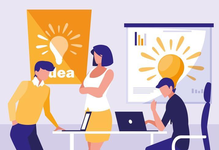 gente de negocios colaborando vector